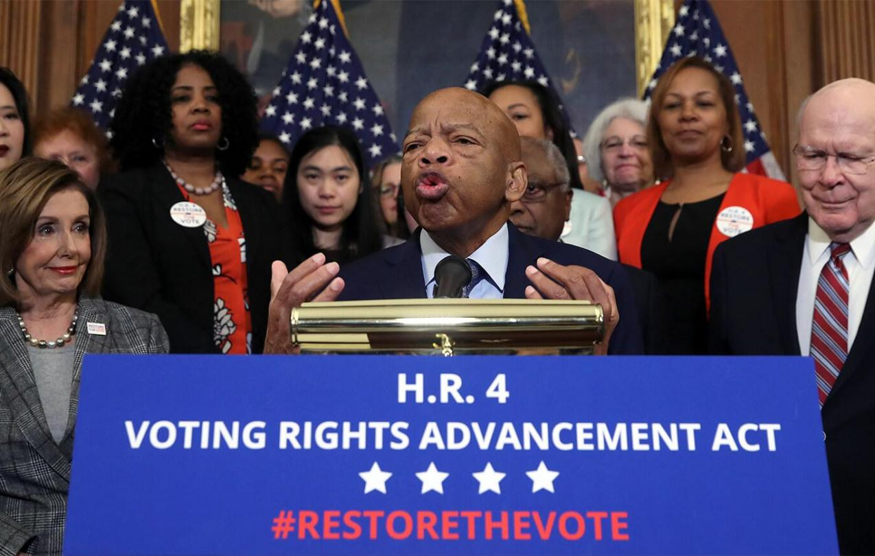Civil rights icon Rep. John Lewis, D-Ga, speaks in support of H.R. 4